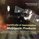 Metropole NASA Certificate Appreciation IRIS Launch